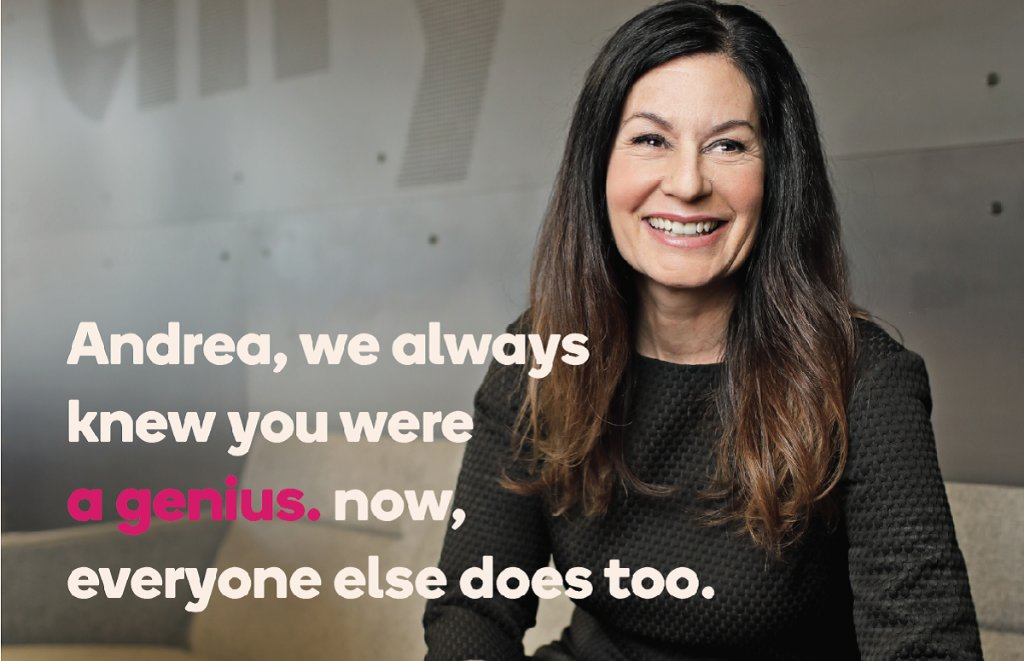 We're thrilled to announce that our very own Chief Marketing & PR Officer, @AndreaBrimmer, has been named an @Adweek 2020 Brand Genius! Congratulations on this well-deserved recognition! https://t.co/oGP5ikzH1r