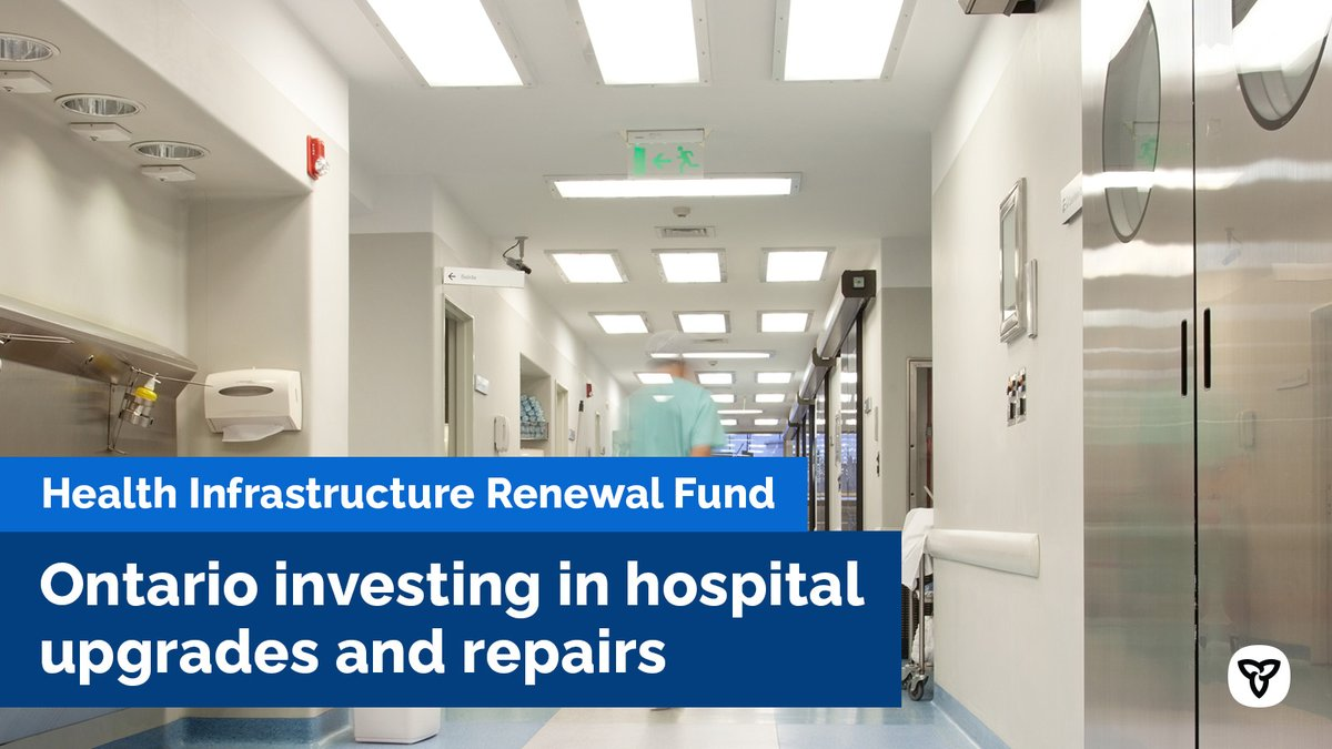 Ontario is investing $175M this year to address critical upgrades, repairs & maintenance in 129 hospitals across the province. That included $50M for COVID19 related & other urgent projects to ensure patients continue to receive care in a safe environment. news.ontario.ca/en/release/583…