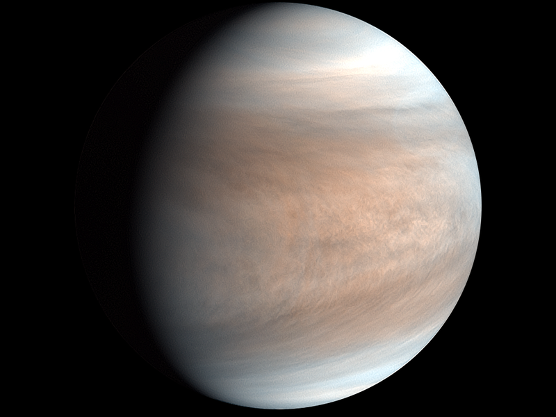 If microbes in Venus's clouds were confirmed -in an unknown future-this would be wonderful news because means basic life is able to start and develop in bizarre ecosystems and could be common in the Universe.  Image: JAXA https://t.co/HxxonogcAP
