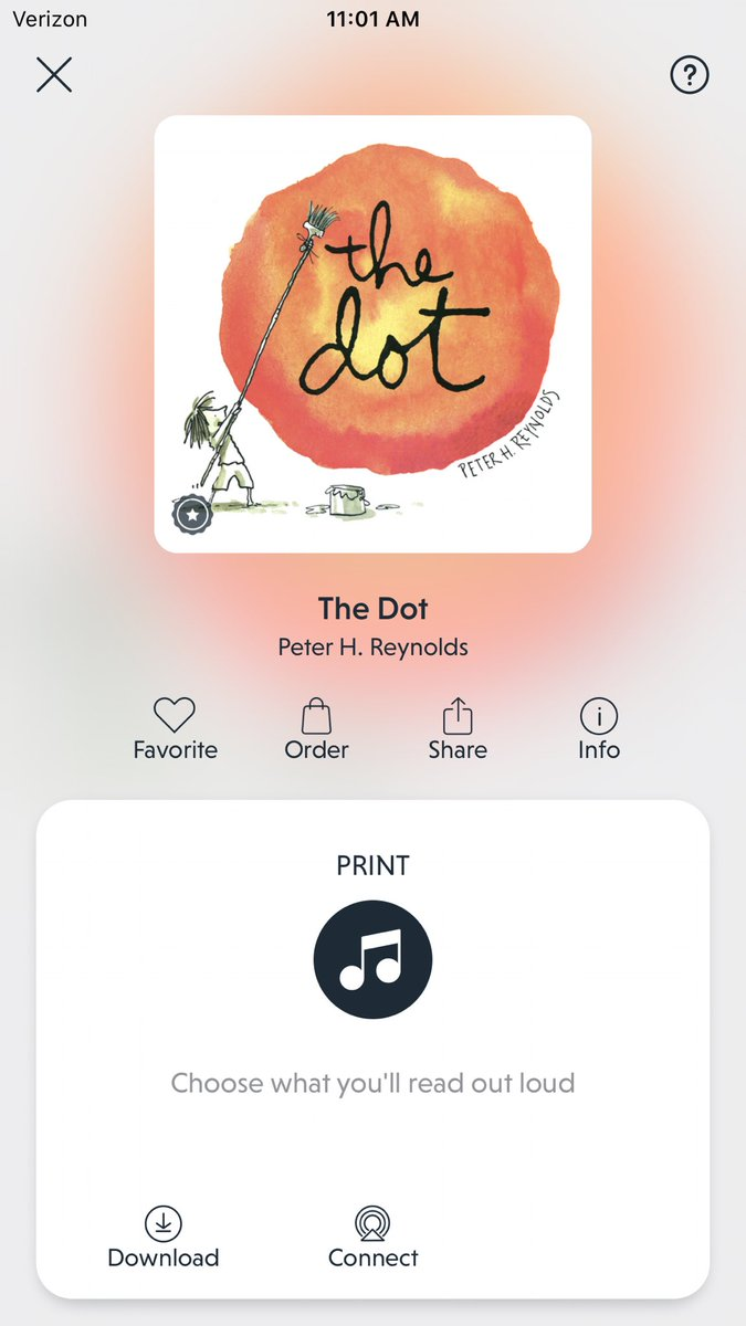So excited to see @peterhreynolds The Dot on @Novel_Effect just in time for #DotDay2020 🙌🏻☺️ #BPSLearns #remotelearning https://t.co/Lmr9mnOMAJ