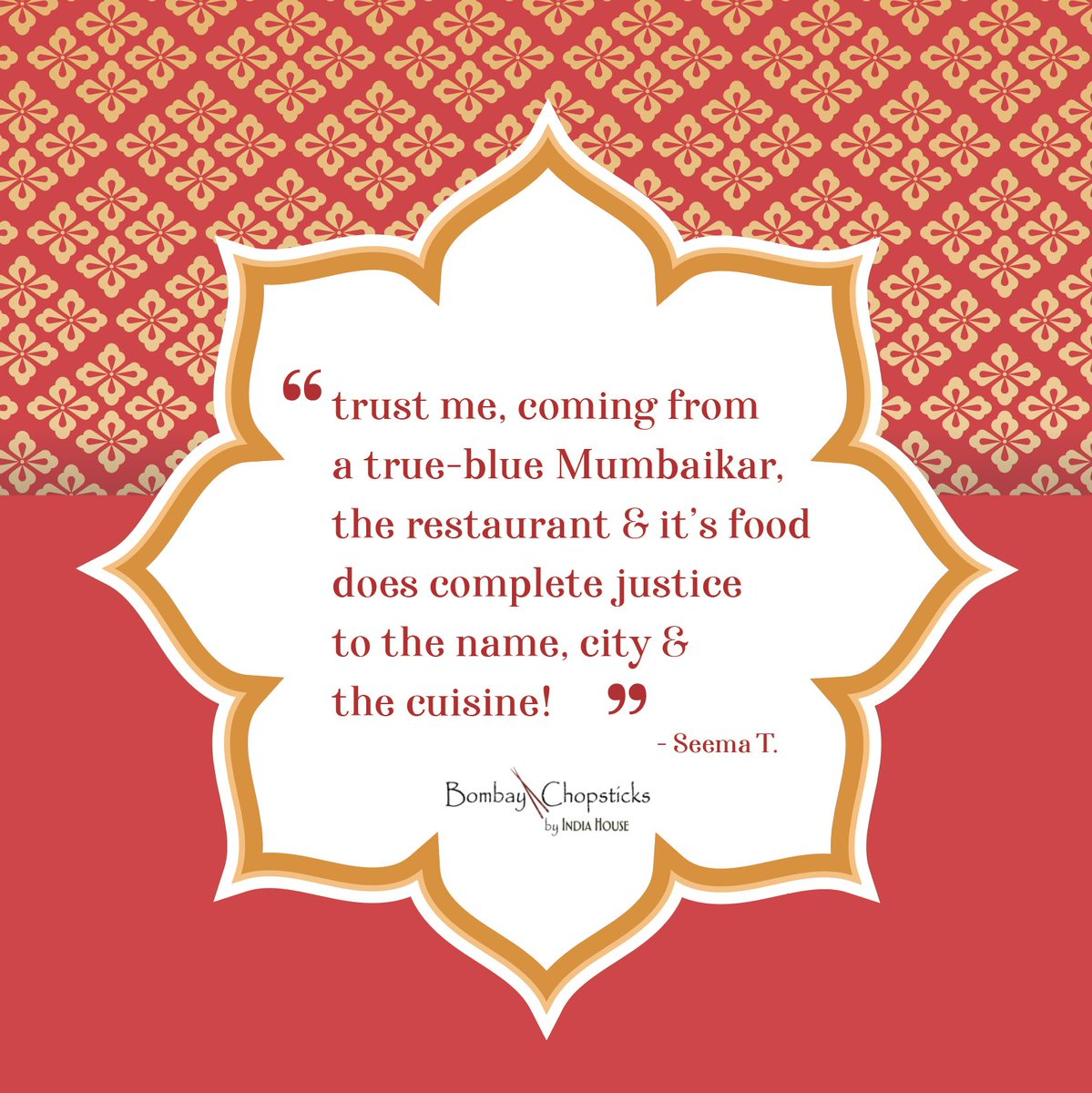 We are so honored to remind you of the real-deal back home in India ✨🥢 That is one of the highest compliments we can receive 🙏  #bombaychopsticks #bombaychopsticksbyindiahouse #IndianFood #ChineseFood #IndoChineseFusion #NapervilleIL #HoffmanEstates https://t.co/DOa1g9VuId