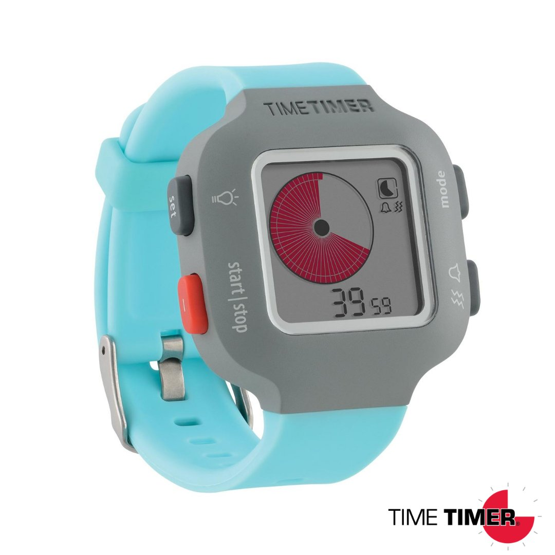 Special offer! Amazon is currently offering a discount on the Time Timer Watch PLUS in Sky Blue. The Watch PLUS provides an easy, portable way to keep daily routines on track, improve focus throughout the day, & improve independence & self-regulation:   https://t.co/528ImV9ZvH https://t.co/oQb0h4oxrl