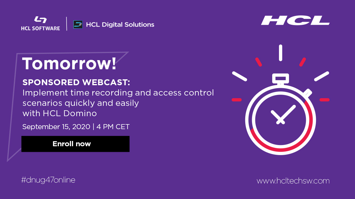 "It's not too late to join the ""SPONSORED WEBCAST SESSION"" at the #dnug47online event and discover the various SAP integrations with #HCLDomino.  Register here: https://t.co/QHSFnmyjBc #dominoforever"