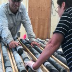 Image for the Tweet beginning: Examining our latest drill core