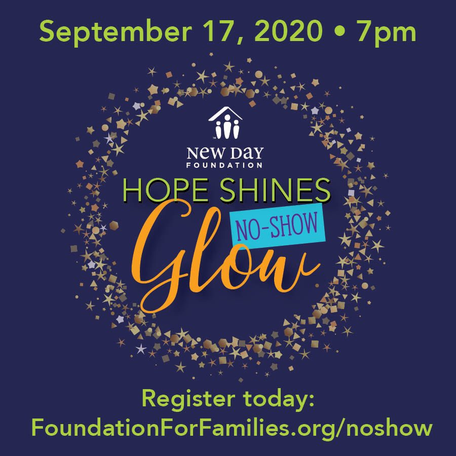 Join us at the No-Show Glow on September 17th!! #newday #hopeshines #noshowglow https://t.co/HEtnIPARqL