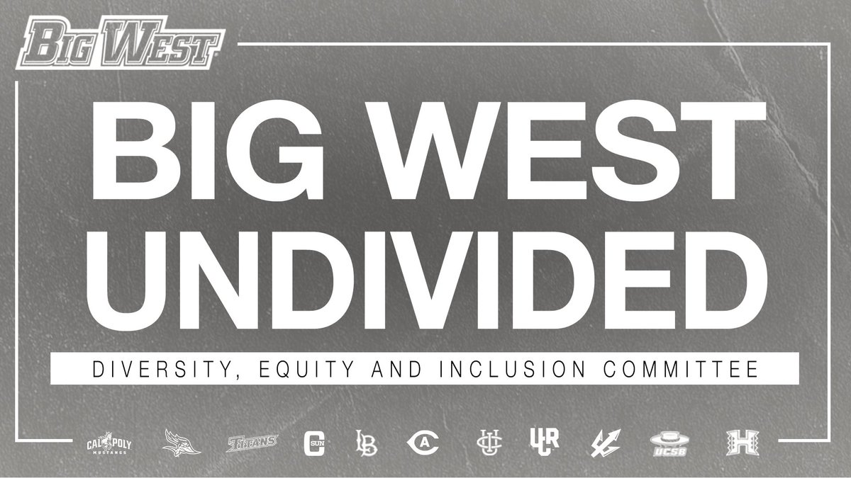 🚨 The #BigWest announces the formation of the Diversity, Equity and Inclusion Committee.   𝐁𝐢𝐠 𝐖𝐞𝐬𝐭 𝐔𝐧𝐝𝐢𝐯𝐢𝐝𝐞𝐝 ⏩ Together we will work to combat racism, fight for social justice, support BLM and other nonviolent orgs.   Full Release 🔗 https://t.co/ZDCToGNxw3 https://t.co/Hi8d5uUGWb
