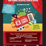 Image for the Tweet beginning: National #SchoolLunch Week is a