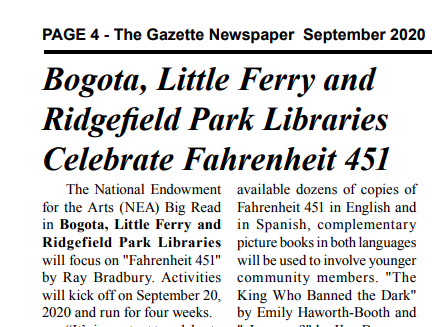 Check out coverage of our #NEABigRead celebration in The Gazette! Join us for our kick-off event on Tue, Sep 22. #communityread https://t.co/JaiZBSSbtR https://t.co/xR7bew4LUv