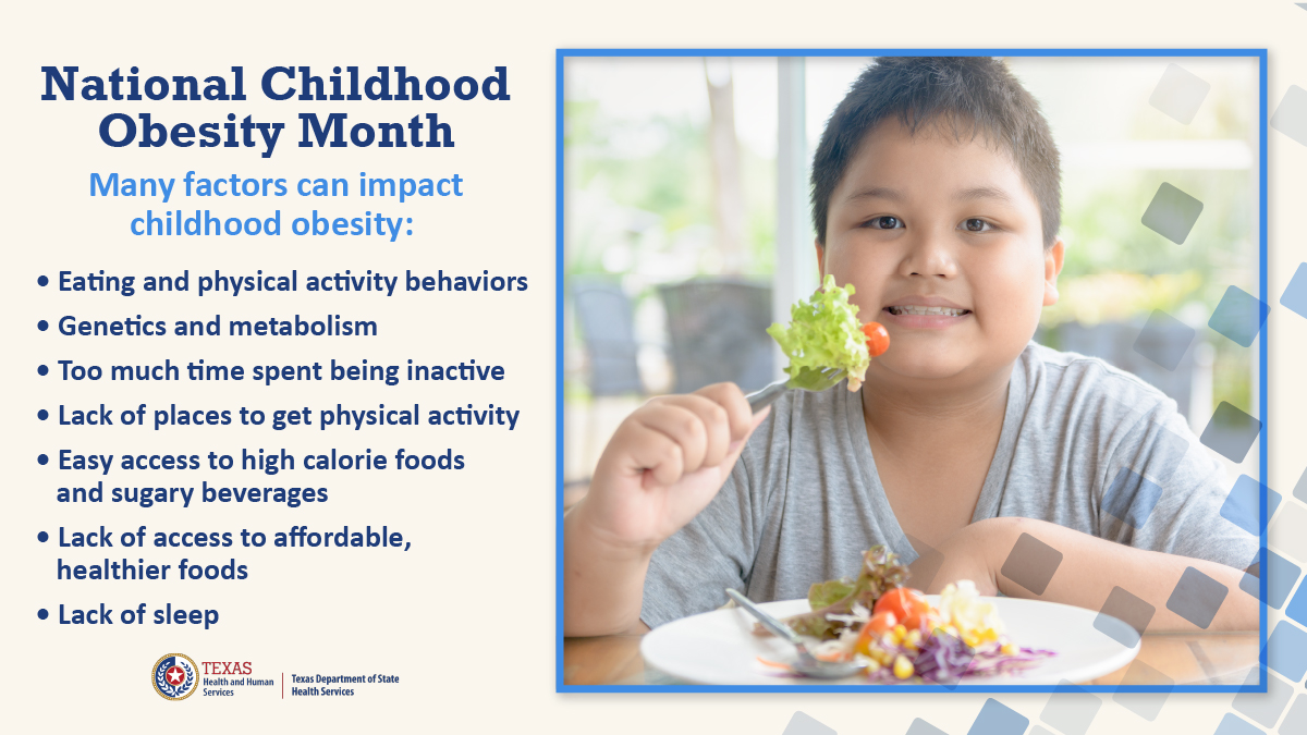 National Childhood Obesity Month is a great time to focus on planning #healthymeals and doing more physical activities with your children. Learn how parents and caregivers can help their children prevent obesity: bit.ly/32BCtvA