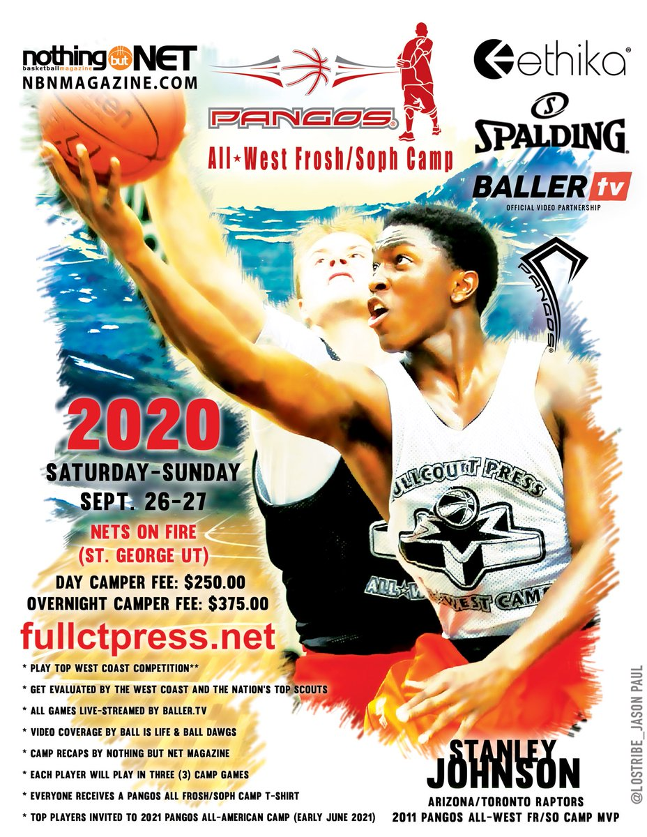 Next up is the Pangos All-West Frosh/Soph Camp Sat-Sun Sept 26-27 @NETS_ON_FIRE (St. George UT). All games live-streamed by @BallerTV Recaps by @NBNMagazine Top scouts & video outlets always in the house. Haters gonna hate... players gonna play @FCPPangos @balldawgs @ChrisPoPoola https://t.co/4ZhdIo3fnL