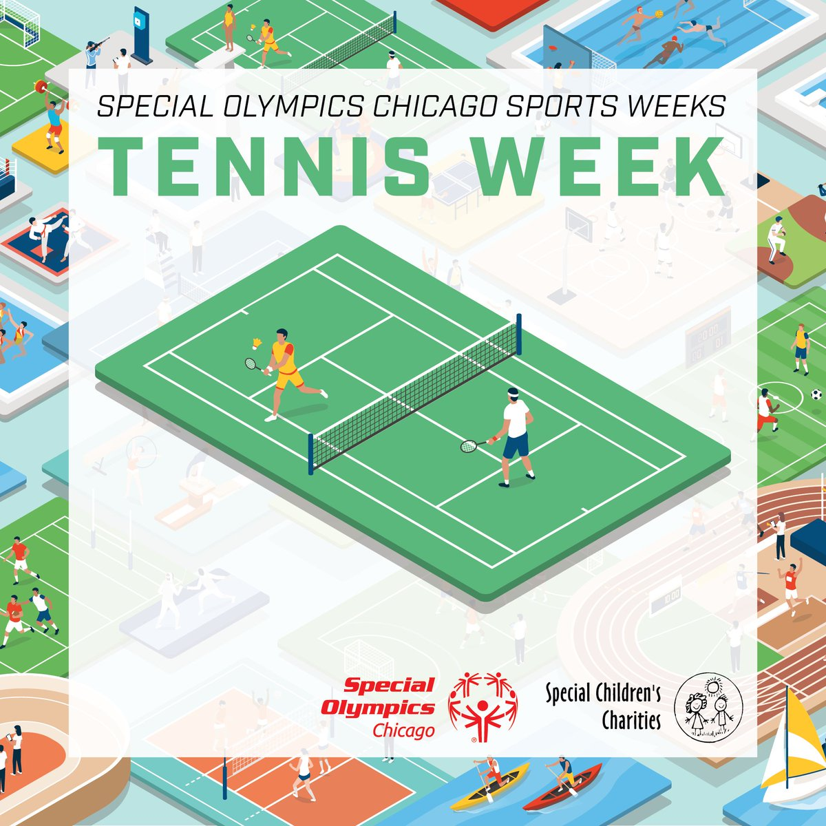 Our first sport theme week features tennis! Tennis is a popular sport played around the world at all levels of skill and by players of all ages. The goal of tennis is to use a racket to pass the ball back and forth between players across a net. https://t.co/OAeXF9lcIG