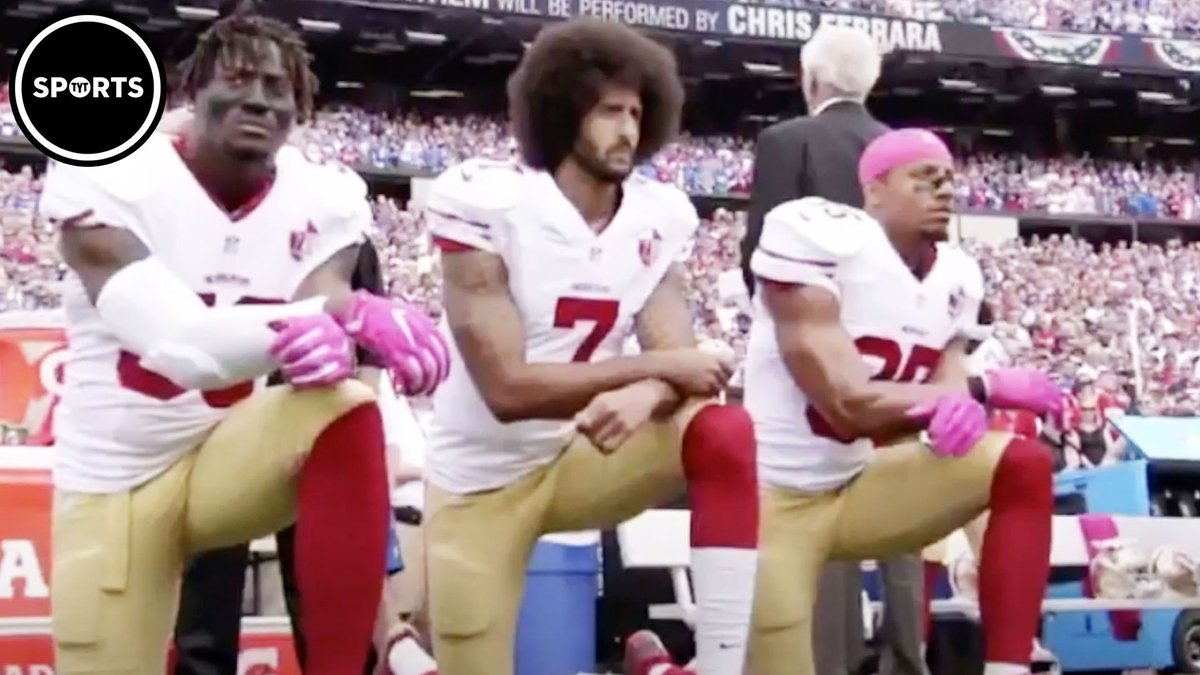 Our latest on the NFL this past Sunday.  Putting Eric Reid and Colin Kaepernick in their video re: racism/injustice.  And the hypocritical nature of the league's continued blackballing of two standout players.