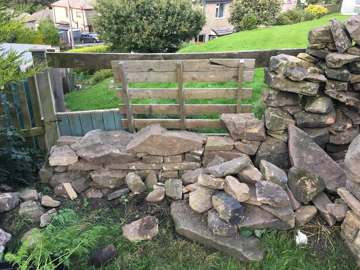 A spot of exceedingly amateur dry stone walling happened just now.