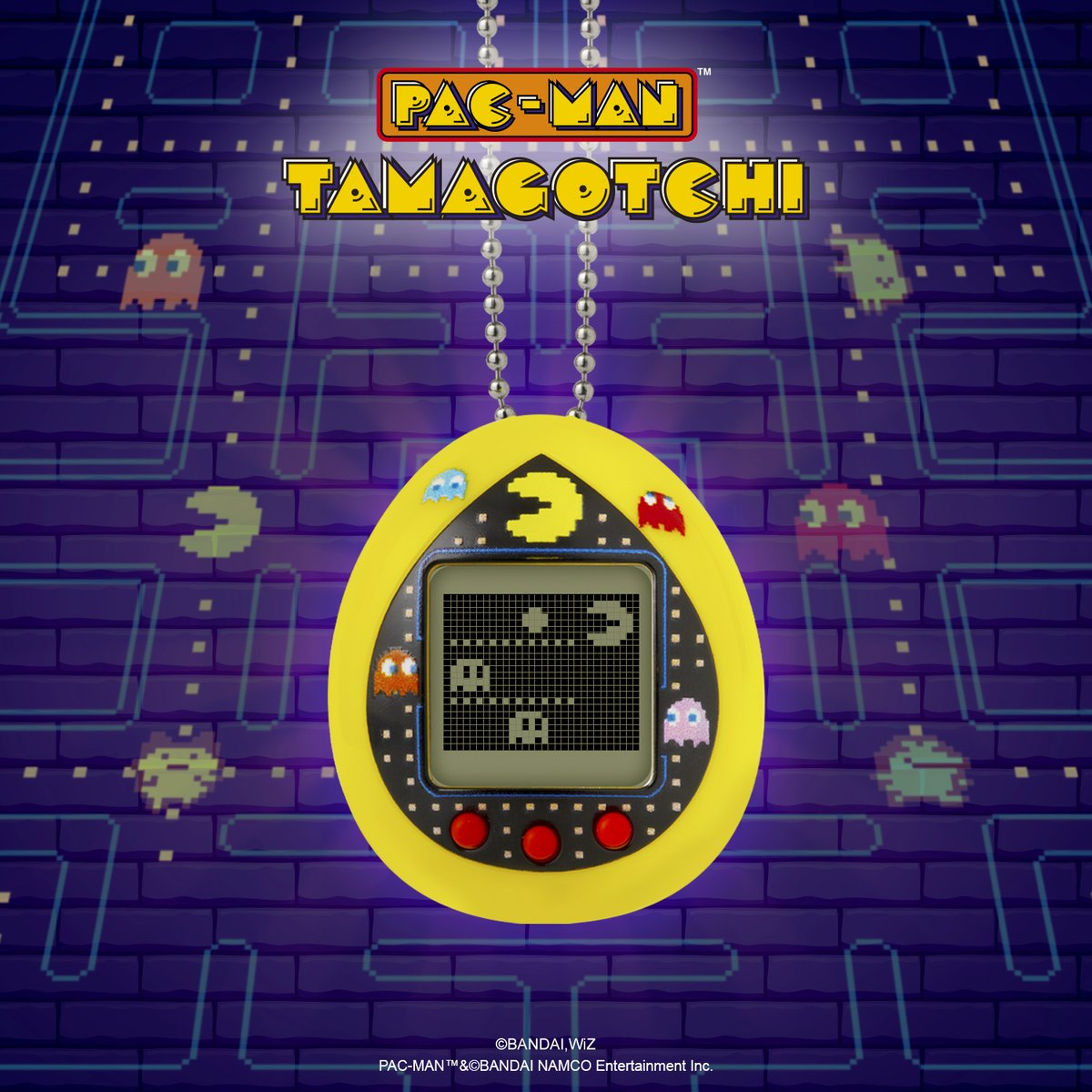 Our cherry-eating, ghost-catching, waka waka noise-making friend is the ultimate addition to the Tamagotchi! 🍒  @officialpacman    #PACMANTamagotchi #PACMAN40th https://t.co/9m7FuefHgm