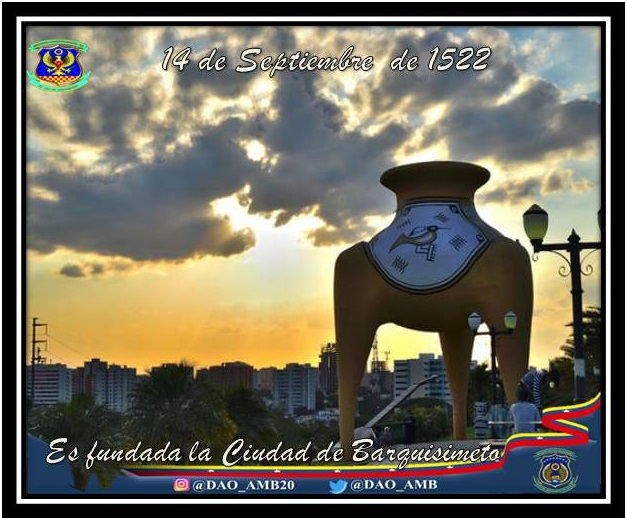 Ciudad Crepuscular de Venezuela #Barquisimeto arriba a sus 468° aniversario, también conocida como la capital musical del país, y es la cuarta urbe más poblada de la nación, después de Caracas, Maracaibo y Valencia. #RumboAlCentenarioAMB  #LealesSiempreTraidoresNunca https://t.co/P0ypq2MWJe