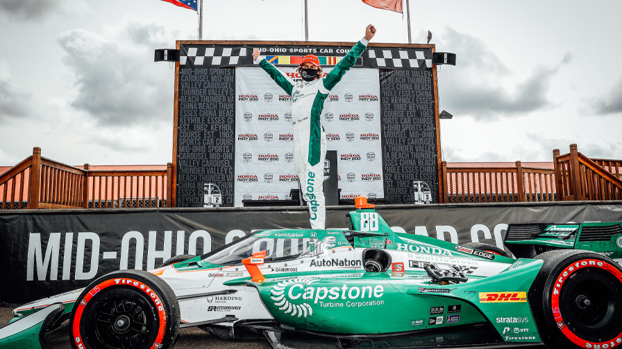 It was a weekend to remember at @Mid_Ohio!  A sweep of Sunday's podium capped an amazing doubleheader weekend for @Honda that included a top-5 lockout and @ColtonHerta's third-career @IndyCar win!  #PoweredByHonda // #Honda200 // #INDYCAR https://t.co/1onGG6fPLY