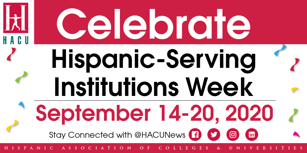 In honor of #HispanicHeritageMonth, Chico State is proud to join @HACUNews to celebrate #HSIWeek! We are proud to be recognized as a Hispanic-serving institution and committed to advocating for the success of our Latinx students: https://t.co/Fs6vyDZI4a https://t.co/P2OeJdt4mV
