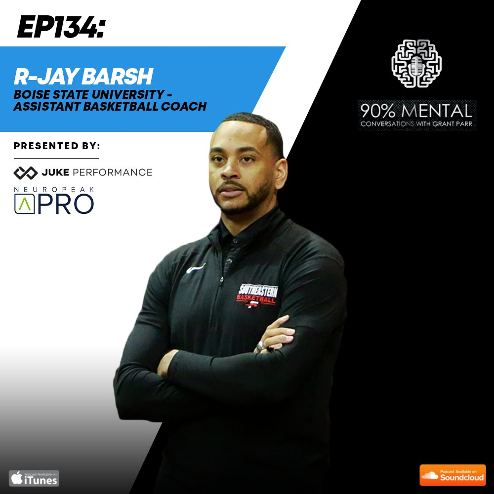 Tune into the latest 90% Mental Podcast episode with @CoachRjayBarsh , Boise State University Asst. Mens Basketball Coach, where he shares his transformational mindset and how he coaches athletes to overcome adversity. gamefaceperformance.com/90-mental/epis… @BroncoSportsMBB @BroncoSports