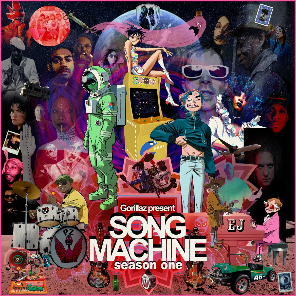 Introducing the all-star cast of Song Machine Season One ✨STRANGE TIMEZ✨  Featuring: @slowthai @Beck @st_vincent @eltonofficial  @TheRealKano @MikeWiLLMadeIt @georgiauk_ @ScHoolboyQ @CHAIofficialJPN @FatouDiawara & many more  Pre-order 👉 https://t.co/CkN1CrFP8k   #SongMachine https://t.co/M7rMWSsYjY