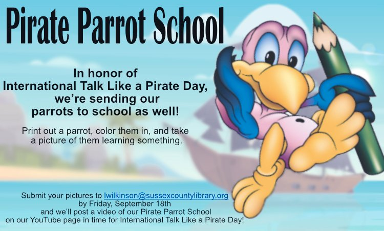 What happens if you bring a parrot to school? Maybe they learn to talk like a pirate!  Find a parrot picture, color it, take a picture of your parrot learning something, email it to Mr. Leigh.  Then, watch our YouTube Channel to see your Parrot in School!  https://t.co/Emvhg6z2Tl https://t.co/0aW1hQmvzJ