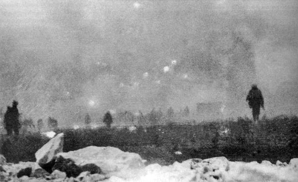 On this day in 1915, the British army launches an offensive at Loos, France. It lasts three weeks and costs Kitcheners new volunteer army 56,000 men.
