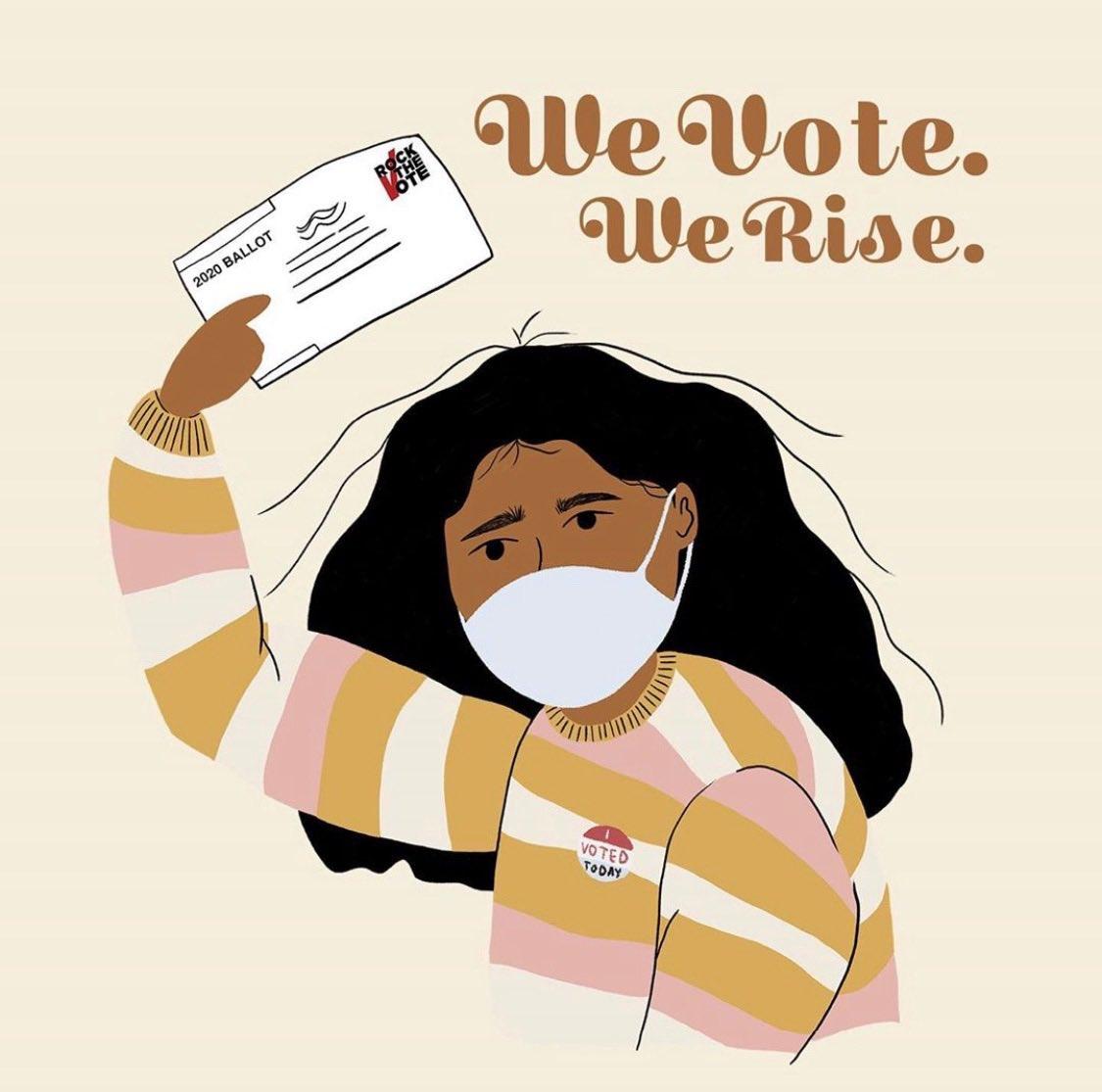 Do it safely. Do it right. #Vote  🎨: @sophillustrates via @RockTheVote https://t.co/jeKkav3d0x