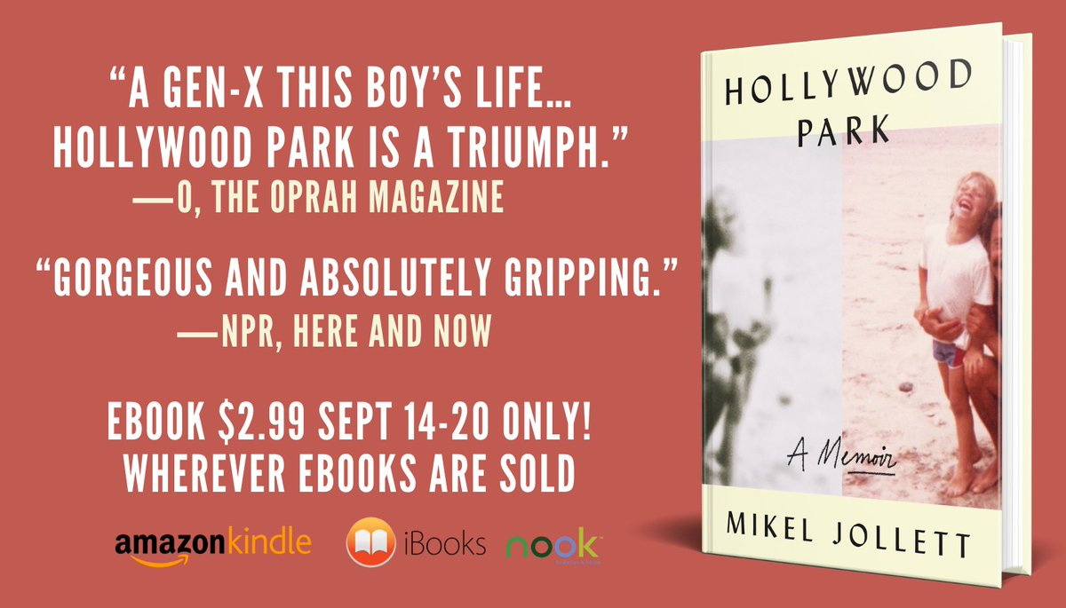 Hollywood Park was selected by @AmazonKindle for its  @nytimes Bestseller Kindle Big Deal.  For one week only, Mikel's memoir Hollywood Park will be on sale for $2.99 at all e-book retailers.  https://t.co/5IWb8QW9QP https://t.co/BuaqsYtuTs