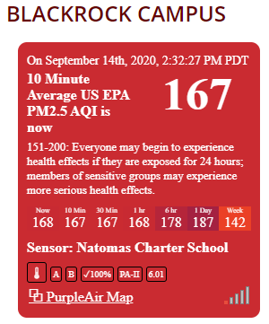 Natomas Charter School maintains three live air quality sensors on each of its campuses. These tools provide a community resource for those living nearby. Learn more at https://t.co/LdMIHHy4ZA https://t.co/LxEyJMjfpY