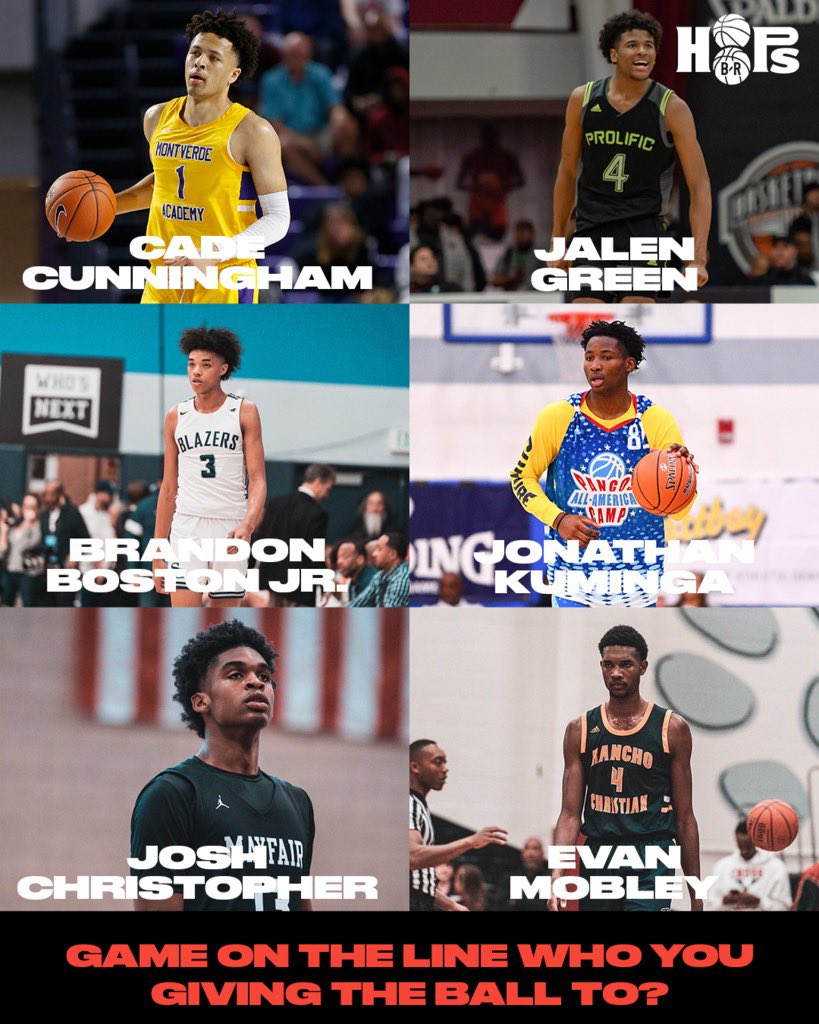 Game on the line who gets the ball?🤔 @Jaygup23 @CadeCunningham_ @JalenGreen @JonathanKuming6 @evan_mobley7 @bboston_ https://t.co/n742t7Vwqi