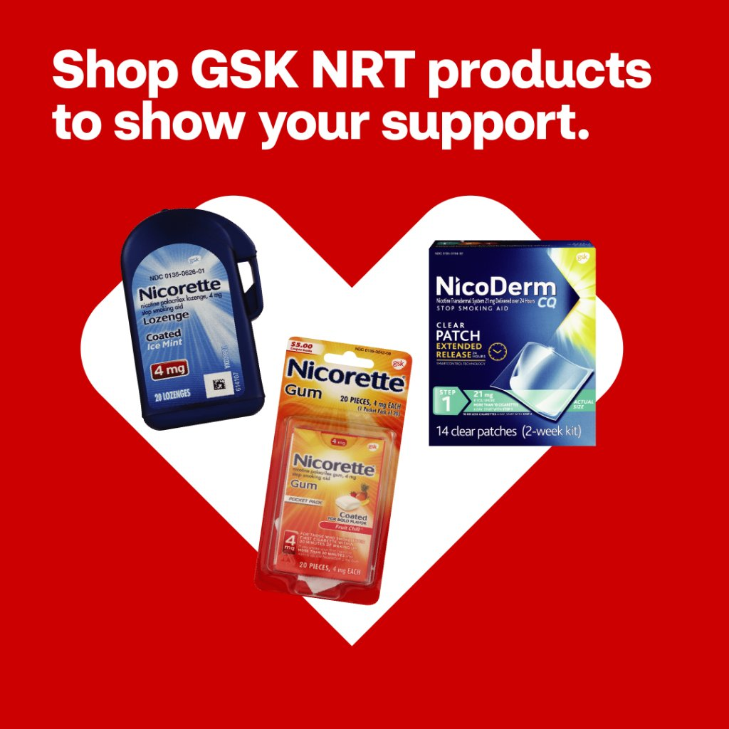 Through 9/19, you can show your support for @AmericanCancer by shopping @Nicorette and NicoDerm CQ at @CVSPharmacy. For every box purchased, @GSKUS Consumer Healthcare will donate $1 to ACS (up to $100,000) https://t.co/Mqw5FTz4HC
