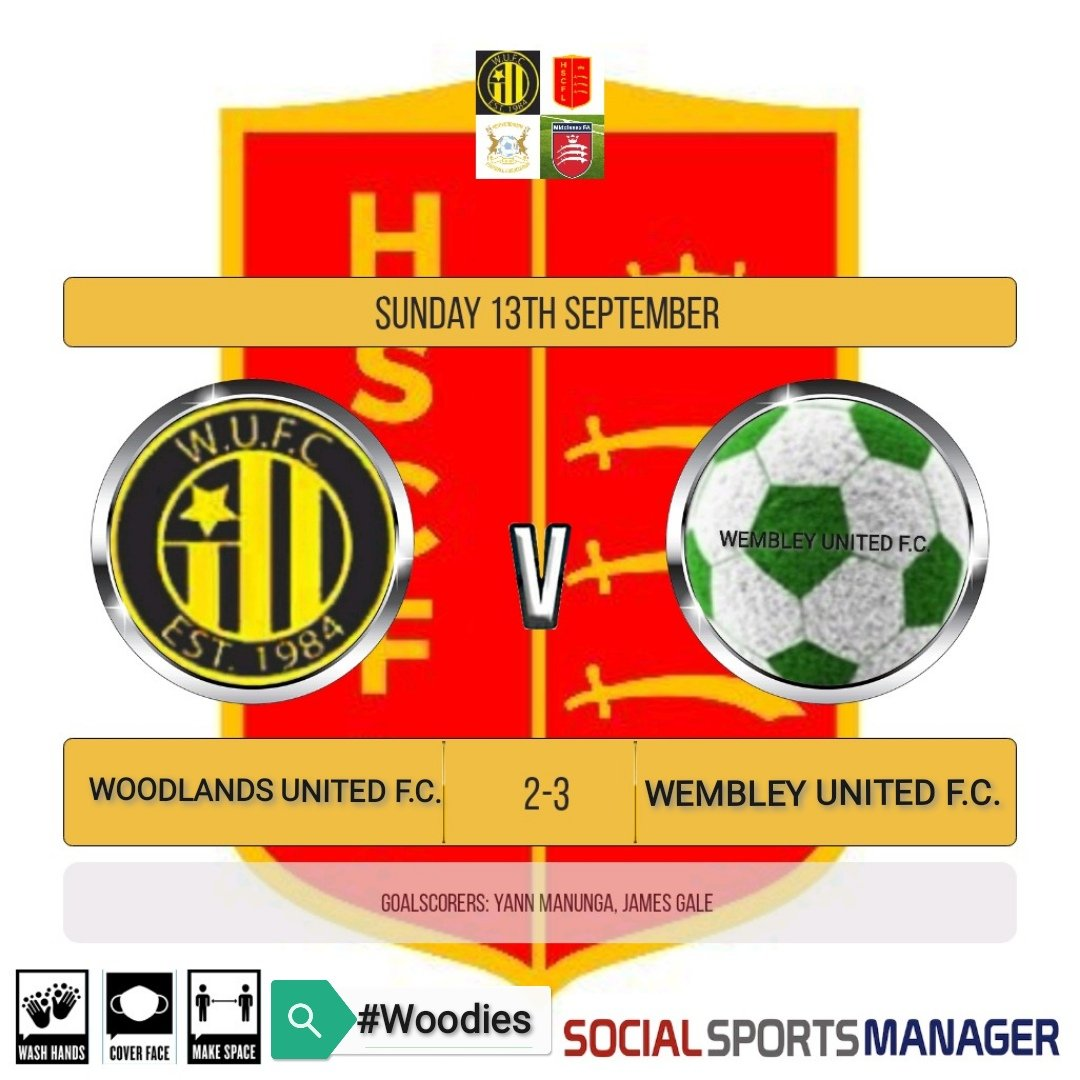 Disappointed to lose our first game of the season vs Wembley United. Deservedly 0-2 down at HT, we fought back well to draw level before conceding again very late on. We should have won but our mistakes & controversial refereeing went against us.  Well played Wembley 👏🏻  #Woodies https://t.co/yr3ivnU77w