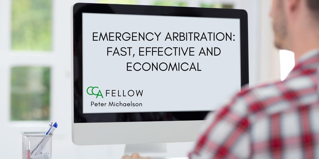In case you missed it: #CCA Fellow Peter Michaelson discusses the ins and outs of emergency relief in arbitration. https://t.co/JamhEYHfKw   #CCAFellows #EmergencyRelief #CCArbitrators #Arbitration #AlternativeDisputeResolution https://t.co/eVE4rE334o