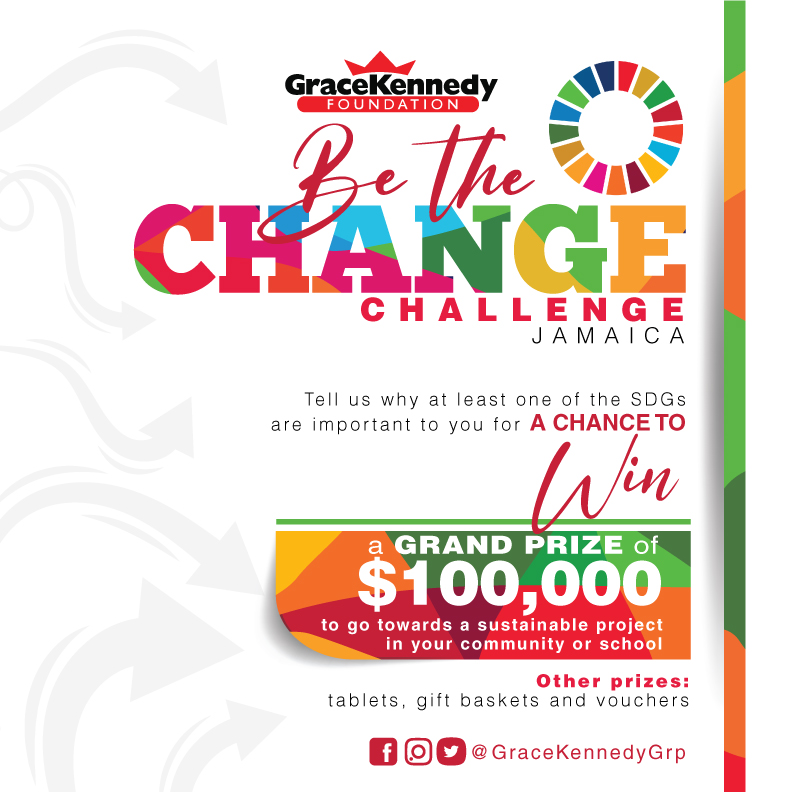 Win JMD 100 000 for your favourite project, community or school by entering @GraceKennedyGrp's Challenge. Post a vid or photo on Instagram describing what your fave Sustainable Development Goal means to you. Deadline Sep. 24👉https://t.co/fBIx2Ni6fO #GKFLecture2020 #SDGs https://t.co/gGiEmpytQ0