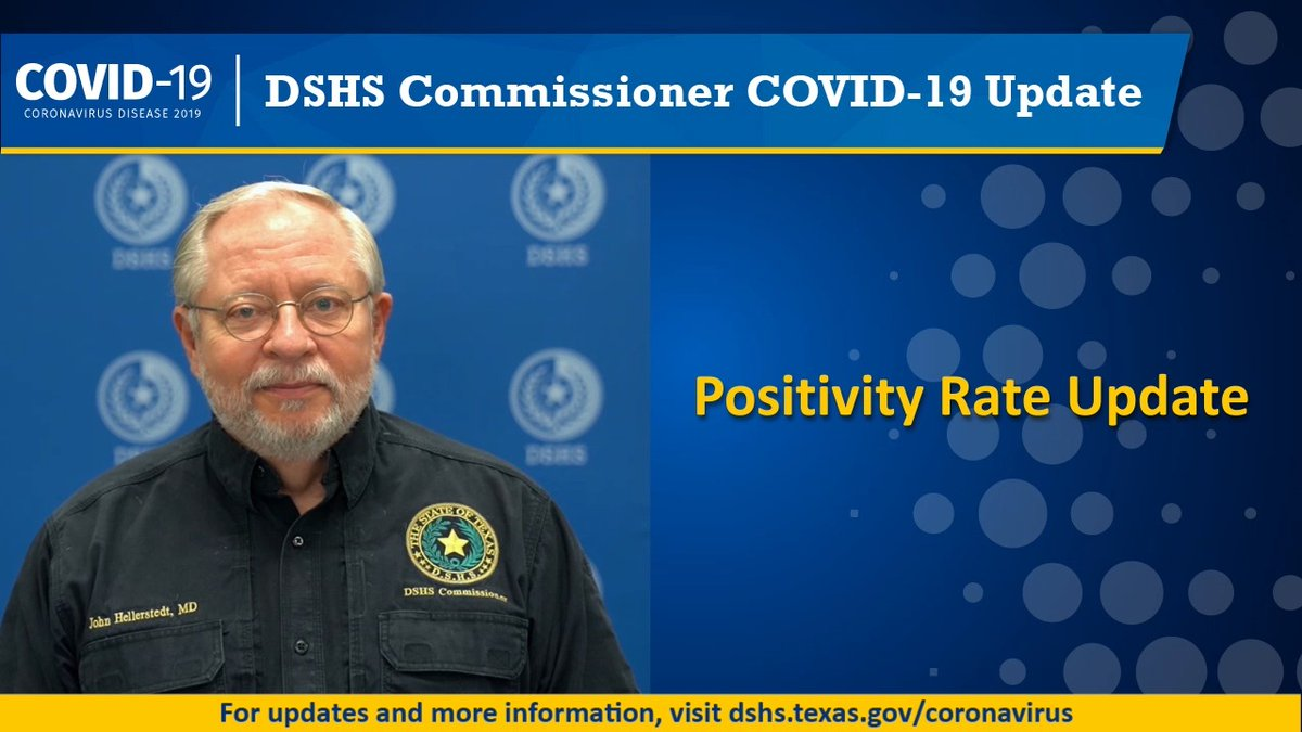 DSHS is adding two new positivity rate measures to the dashboard today. Hear from Dr. H about these changes and how they help us understand #COVID19 in #Texas. bit.ly/3hwFyT0