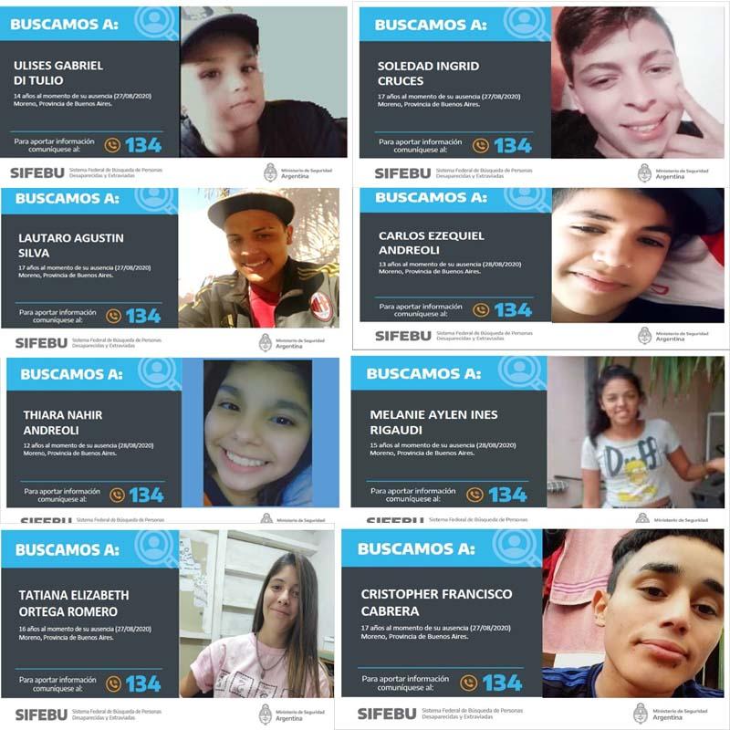 @Kicillofok @SabinaFrederic @SergioBerniArg @alferdez @CFKArgentina #cuarentena  #QuedateEnCasa #pandemia  #Lanata #LaCornisa #BastaBaby #INFECTADURA  @marielfmoreno1 @PFAOficial  #AyudanosAEncontrarlos #PFA QUE ESTA PASANDO EN MORENO  TODOS DESAPARECIDOS ENTRE EL 27 Y 28/08 https://t.co/6A0IIp0TOR