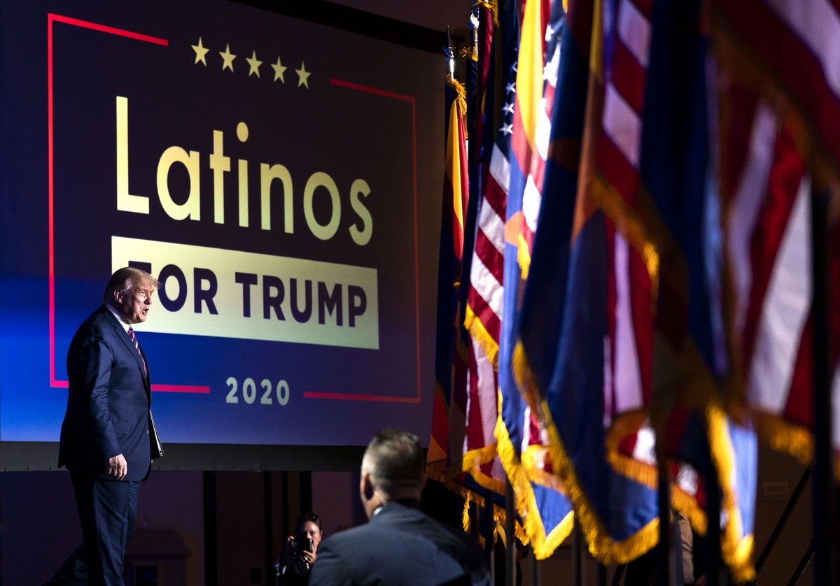 .@realDonaldTrump  participates in a Latinos for Trump Coalition Roundtable and Rally at the Arizona Grand Resort & Spa in Phoenix, AZ https://t.co/sgEe213IX2