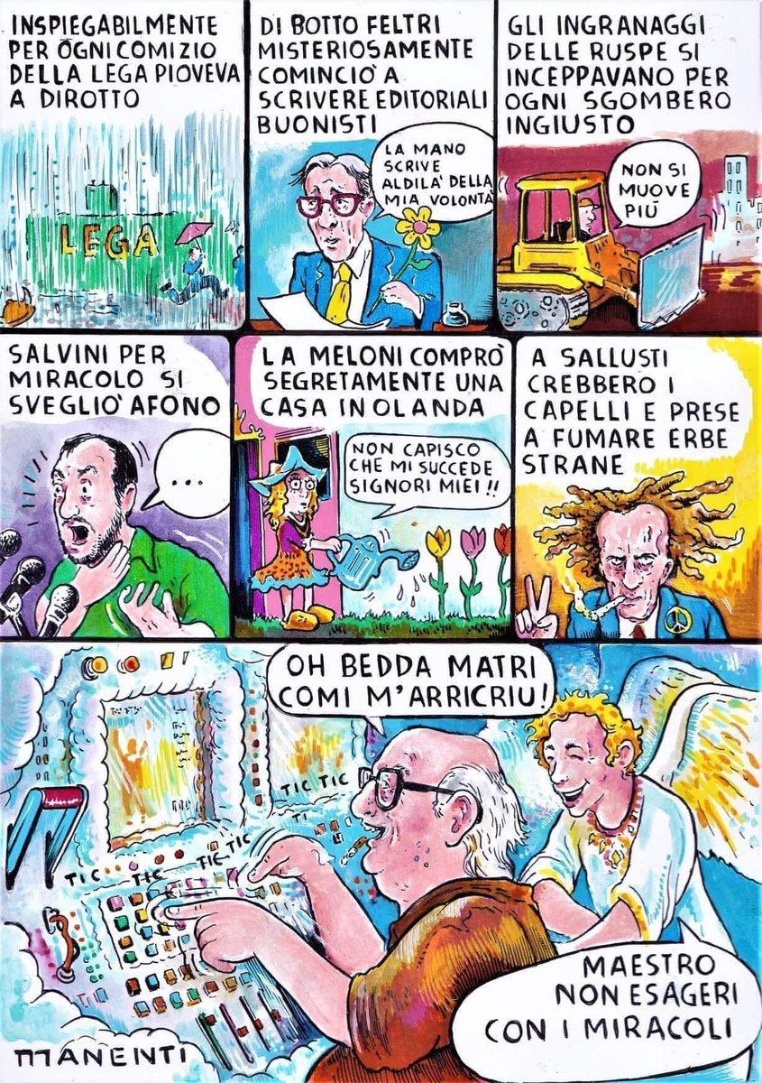 Miracoli... 😂  #Salvini #Lega #Meloni #FratellidItalia #MaestroCamilleri #AndreaCamilleri #satira #funny #funnypic #funnypics #funnypicsdaily #divertente #fotodivertente #fotodivertenti #fotosegnanti https://t.co/GAObQXQwRv