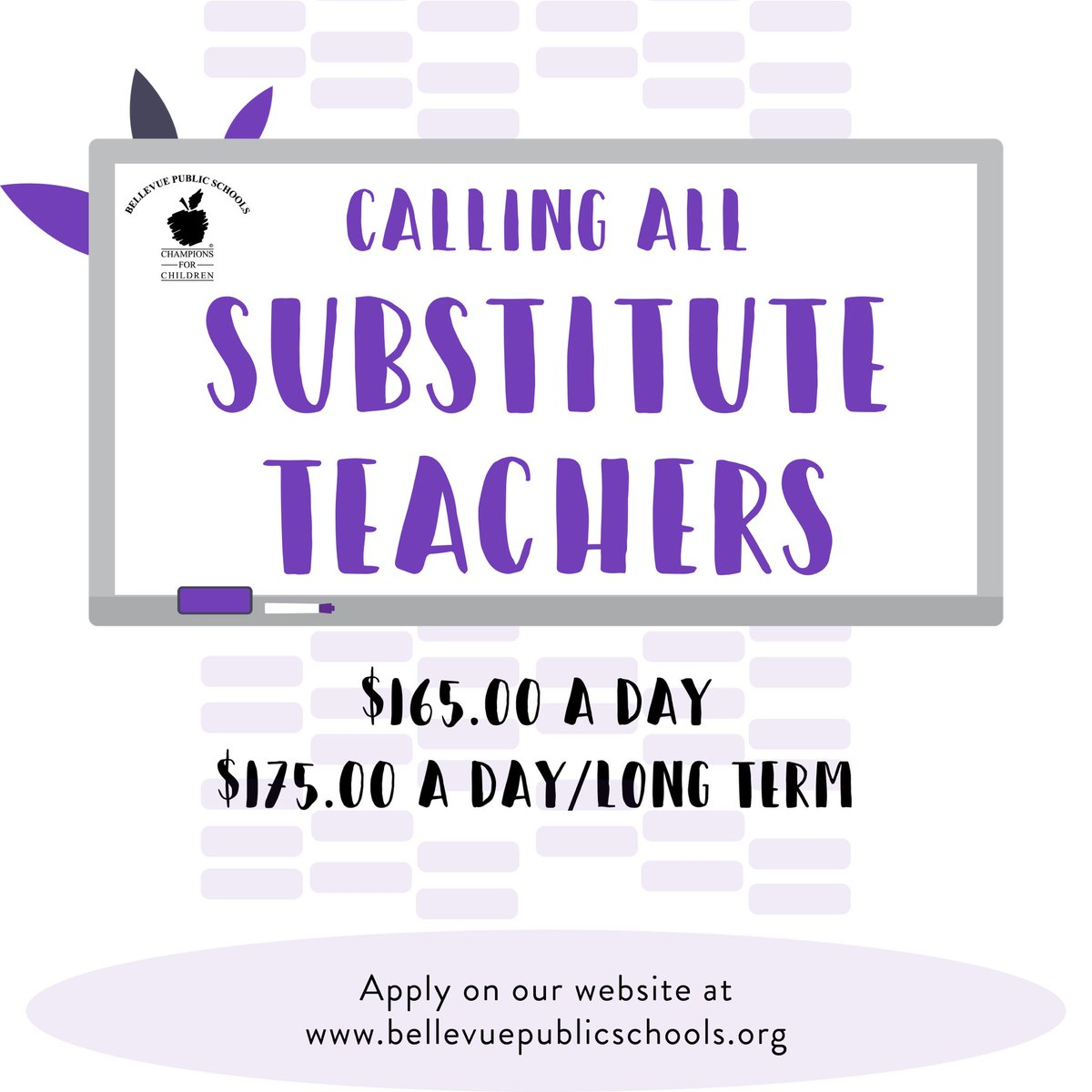 Great News! BPS School Board just approved...  Attention substitute teachers - check out this opportunity to work with BPS: https://t.co/mAOboJEme5   #ChampionsForChildren #TeamBPS #StrongerTogether #bpsne https://t.co/zFc5Pl9Lb4