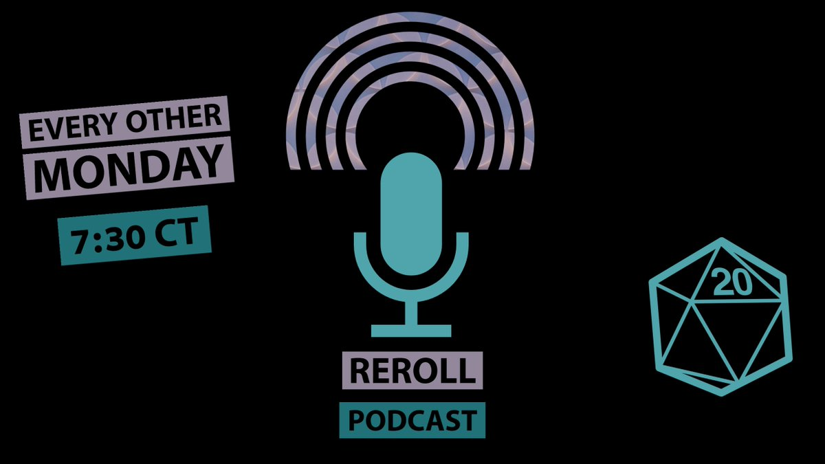 ReRoll Podcast!! Discussing Backgrounds and how can they enhance your game.  Join us for the conversation at 7:30 https://t.co/n5oikPnbnc  #dungonsanddragons #podcast #dnd #divineandconquer https://t.co/B44OYTKBAb
