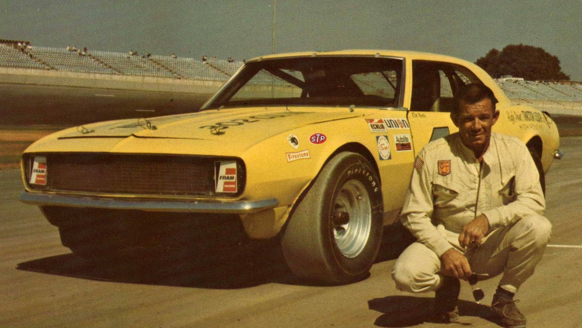 Ken Rush would have been 89 today #RIP Rush was the 1957 @NASCAR Rookie of the Year. In 1969, he won the Grand Touring (Grand American) series championship. He won the first NASCAR-sanctioned race @TalladegaSuperS, the day before Richard Brickhouse won the Grand National race.