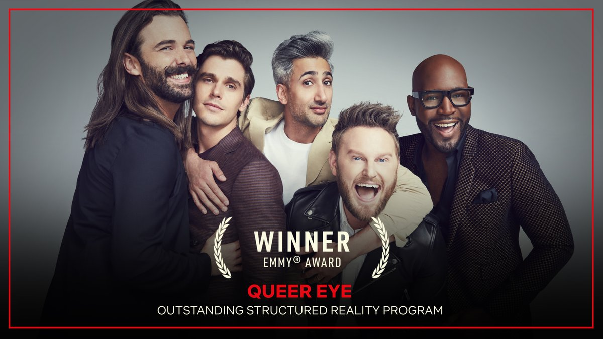 Congratulations to @QueerEye — Winner of the Emmy Award for Outstanding Structured Reality Program! #Emmys https://t.co/QRg1FqyRf7