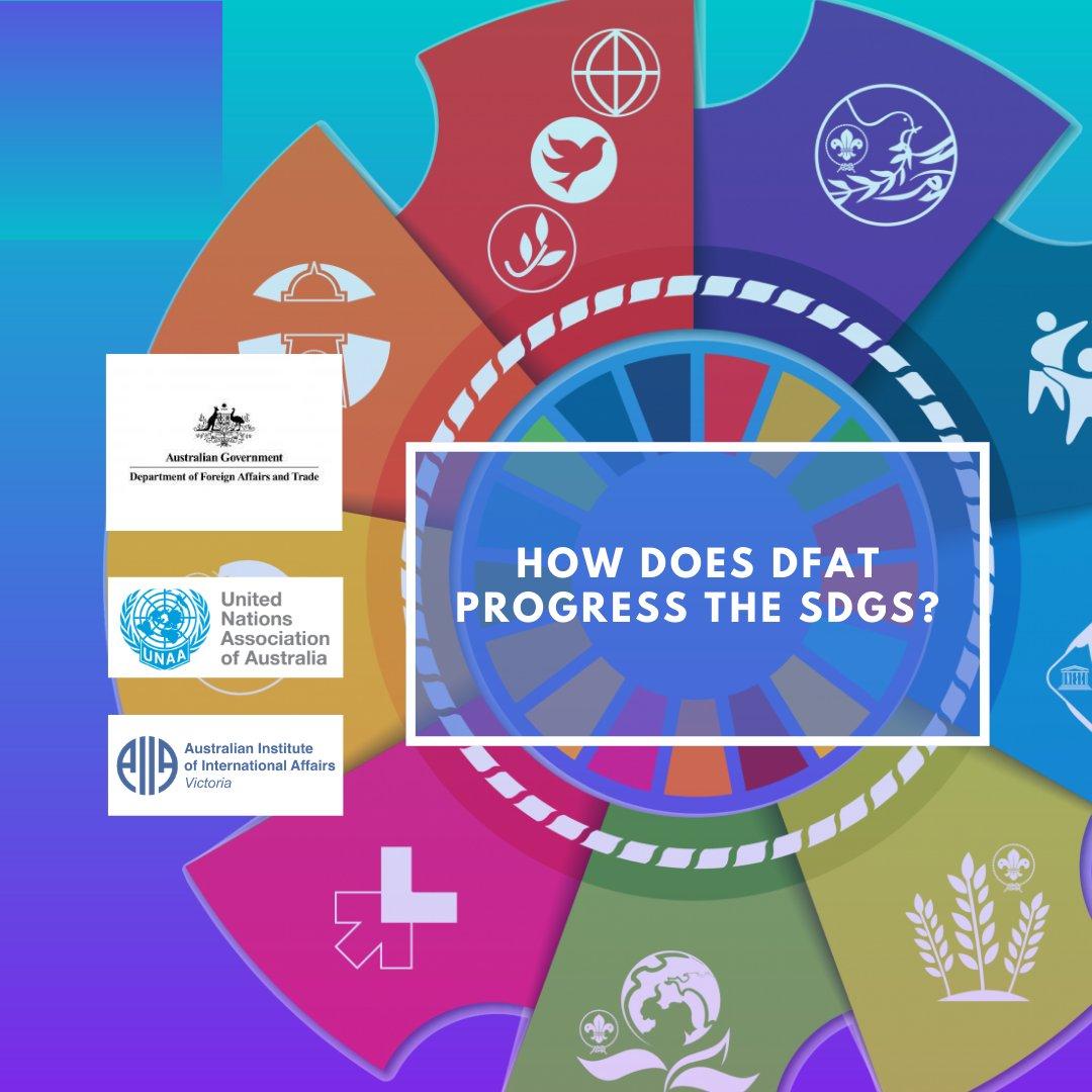 TONIGHT 6.30pm we'll hear from @nataliecohenaus on how @dfat is progressing Australia's commitment to the UN's SDGs. Register here: https://t.co/jmFJlioIST  #dfat #SDGs #sustainabledevelopment #un #aiia https://t.co/2CMexzptMc