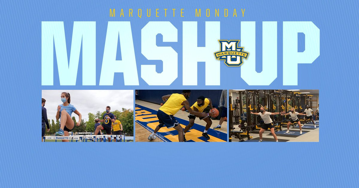 Its 𝙈𝙤𝙣𝙙𝙖𝙮 𝙈𝙖𝙨𝙝-𝙐𝙥 time! Multiple Marquette Athletic programs begin team workouts, two @MarquetteMBB players are set to compete in the Eastern Conference Finals and @NatishaHiedeman joins the Ring Out Ahoya podcast. 🔗: bit.ly/2E1xOLl #WeAreMarquette