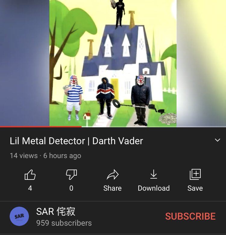 New song up on the channel. Darth Vader by Lil Metal Detector.  https://t.co/4njeeLS9DT  #SoundCloud #trap #memerap #scamrap https://t.co/tUSqwOyOPa