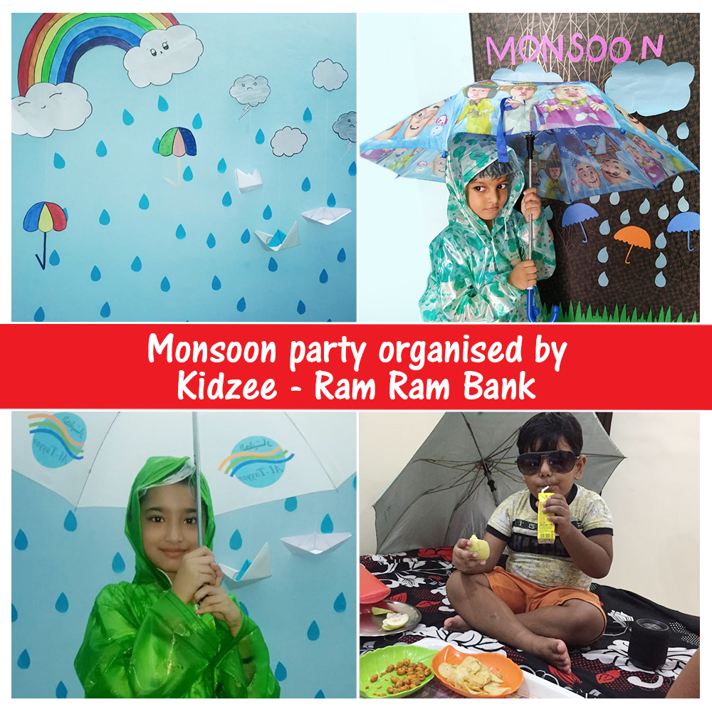 All children enjoy the early days of #monsoon, but it soon becomes a hurdle as they cannot go out to play.   Here's a glimpse of Monsoon party organised by #Kidzee, Ram Ram Bank Branch, where children are all dressed up to have some fun.   #KidzeeStudents #Rain #ThemeParty https://t.co/yJne3Vfxl9