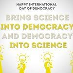 Image for the Tweet beginning: HAPPY #InternationalDayofDemocracy 🥳  🗣We want to