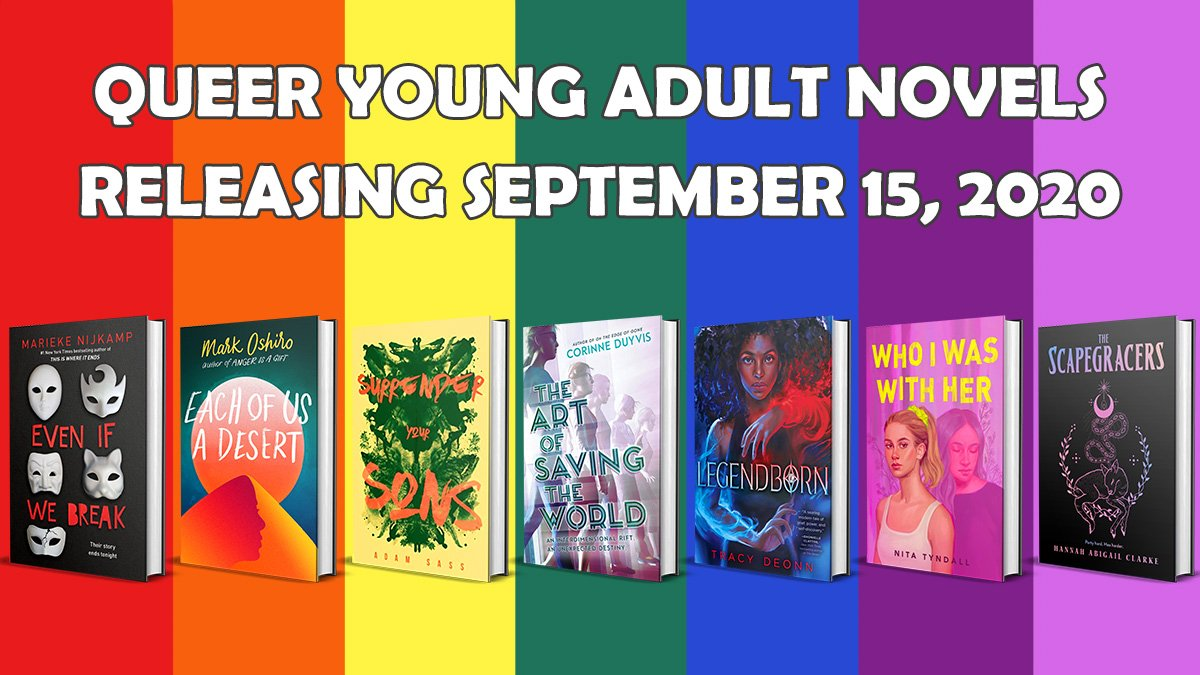 I'll be posting more about THE ART OF SAVING THE WORLD later today, but! It's out! My lil anxious ace lesbian Chosen One book exists 😭  And! So do several other queer YA books! I'm in FAB company. Feel free to share the below graphic/link anywhere 🌈  https://t.co/Iqzo2wD6u8 https://t.co/ZfXbyPk27y