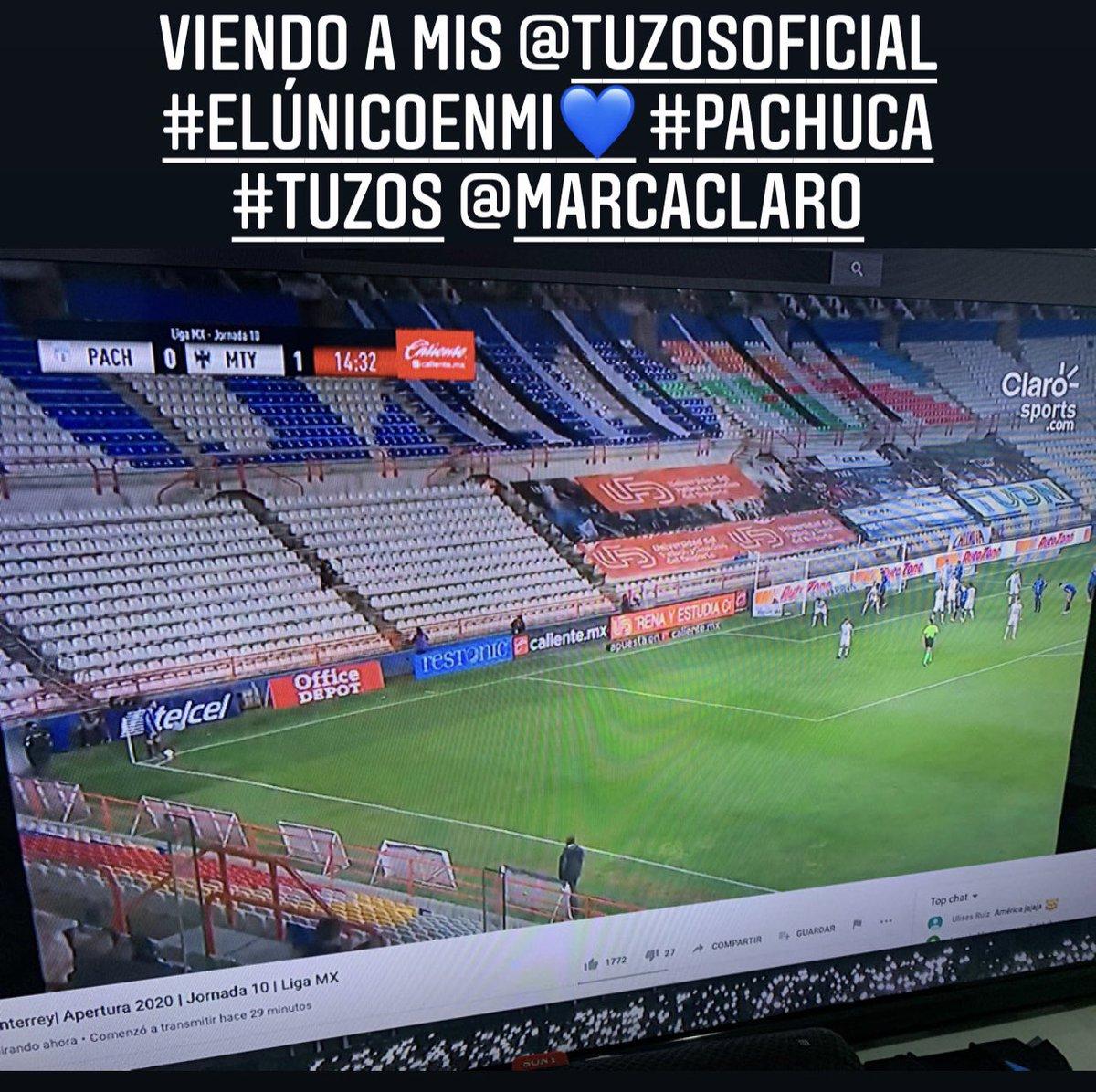 VIENDO A MIS @TUZOSOFICIAL  #ELÚNICOENMI💙 #PACHUCA #TUZOS @MARCACLARO @Tuzos @MarcaClaro #ElUnicoEnMi💙 #Pachuca https://t.co/IxSNvbxv1h