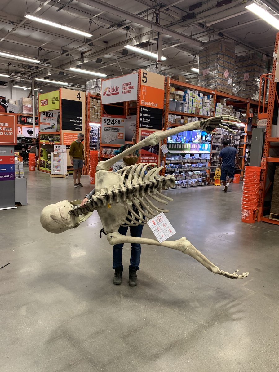 Shing Yin Khor On Twitter They Let Us Buy The Floor Model So We Just Disassembled A Twelve Foot Skeleton In The Middle Of A Home Depot And His Name Is Paul