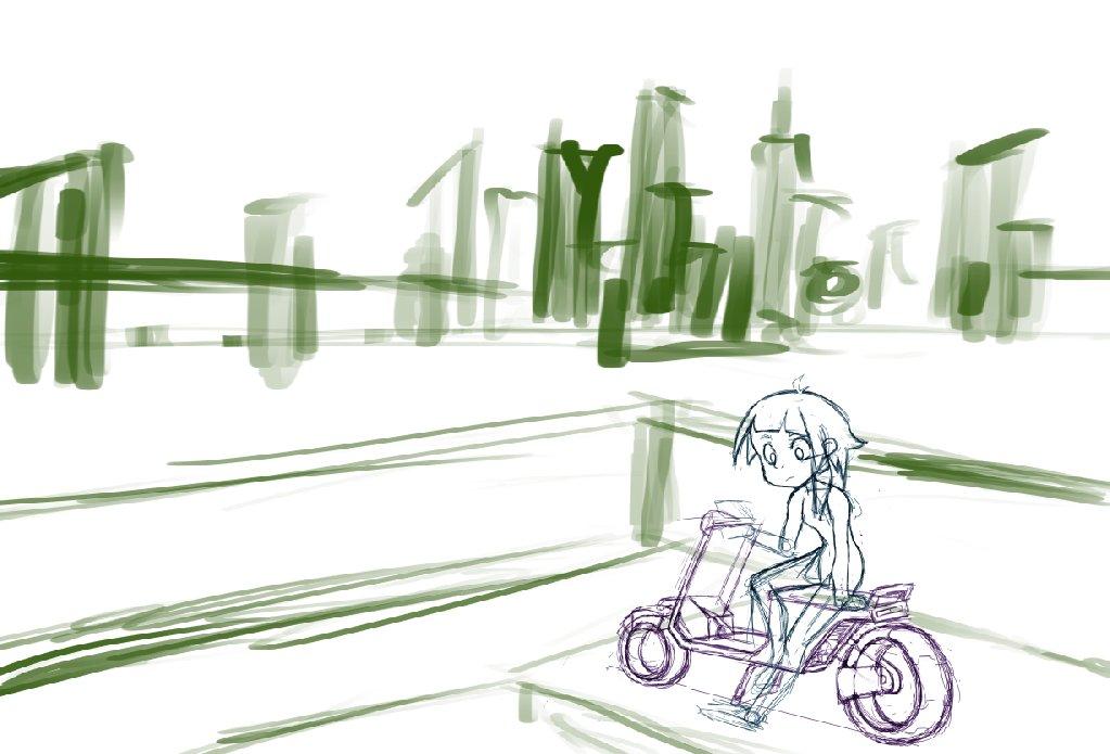 Spent the stream drawing cyberpunk like stuff so i guess I'm gonna work on a cyberpunk scene now.